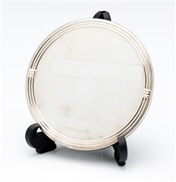 Sale 9255H - Lot 40 - A Christofle silver-plated Art Deco style disc form hand mirror, Diameter 7.5cm, RRP $265.