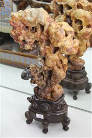 Sale 8324 - Lot 45 - Russet Jade Scholars Sculpture
