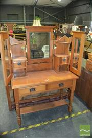 Sale 8383 - Lot 1305 - Mirrored Back Dressing Chest