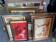 Sale 8478 - Lot 2032 - Group of (8) Assorted Original Painting by Various Artists, Landscape Scenes, each framed, each signed lower, various sizes