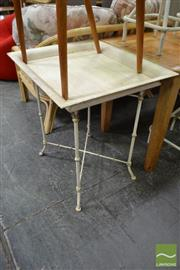 Sale 8480 - Lot 1116 - Faux Bamboo Metal Based Table