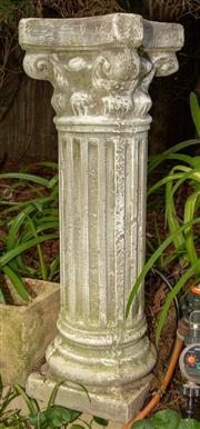 Sale 8568A - Lot 9 - A pair composite Corinthian style pedestals, H 91cm