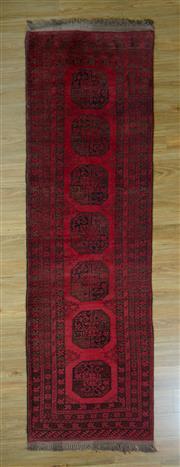 Sale 8672C - Lot 63 - Afghan Qunduzi Runner 302cm x 89cm