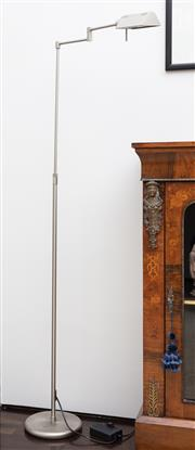 Sale 8782A - Lot 51 - An articulated reading lamp, height 145cm by Holtkotter.