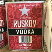 Sale 8801W - Lot 6 - 6x Ruskov Vodka, 700ml