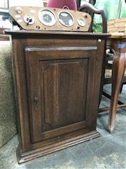 Sale 8868 - Lot 1093 - Antique Oak Hanging Corner Cabinet, with single door