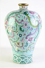 Sale 8877 - Lot 101 - Large Chinese Turquoise Ground Phoenix Vase H:43cm