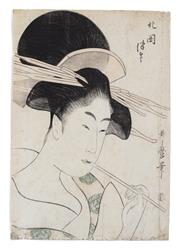 Sale 8994H - Lot 30 - Utamaro - woodblock 36 x 25cm
