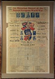 Sale 8994W - Lot 700 - A Large Framed Newspaper Clipping/Poster An Historical Record Of The european Second World War (105cm x 73cm)