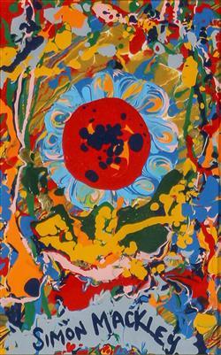 Sale 9093A - Lot 5042 - Simon Mackley (1967 - ) - A Centre of Attention 17 x 11 cm (frame: 40 x 36 x 4 cm)