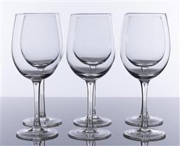 Sale 9245R - Lot 31 - A set of 6 large S&P crystal wine goblets, Ht:23cm