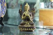 Sale 8324 - Lot 50 - Tibetan Gilt Bronze Buddha Marked to Base (Height - 15cm)