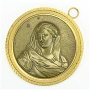 Sale 8393B - Lot 35 - Bronze Ormolu Roundel