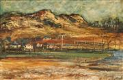 Sale 8633 - Lot 522 - George Feather Lawrence (1901 - 1981) - River Flats, 1966 39 x 59.5cm