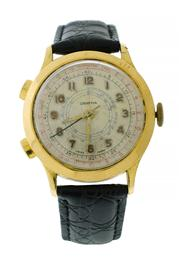 Sale 8618A - Lot 29 - An early Swiss made two button chronograph watch;