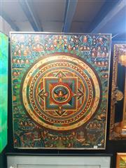 Sale 8627 - Lot 2020 - Tibetan Tanka Artwork 85 x 70cm