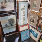Sale 8636 - Lot 2097 - 7 Works: Group of 6 Screenprints by Anne Mangravti, plus Gaudi Decorative Print