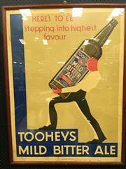 Sale 8643 - Lot 1034 - Vintage Tooheys Mild Bitter Ale Poster, framed