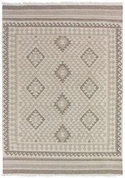 Sale 8651C - Lot 75 - Colorscope Collection; Flatweave Wool and Cotton - Beige/Taupe Diamonds Rug, Origin: India, Size: 160 x 230cm, RRP: $499