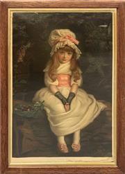 Sale 8686 - Lot 2037 - A C19th chromolithograph, Cherry Ripe, 84 x 60.5cm (frame size)