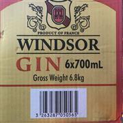 Sale 8801W - Lot 7 - 6x Windsor Gin, 700ml