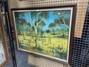 Sale 8932 - Lot 2079 - Pro Hart - Chop Picnic at the Creek, Print