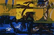 Sale 8980A - Lot 5088 - Una Foster (1912 - 1996) - Oasis, 1971 28 x 43 cm (mount: 37.5 x 53.5 cm)