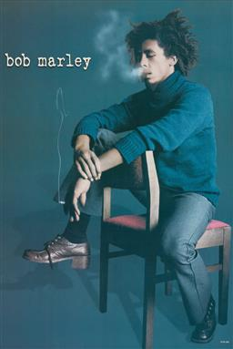 Sale 9212A - Lot 5093 - BOB MARLEY vintage poster 95 x 62 cm (frame: 97 x 65 x 2 cm) serial number WM-384