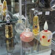 Sale 8369 - Lot 12 - Signed Art Glass Perfume Bottle Incl. Chloe