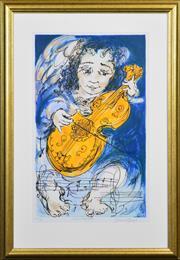 Sale 8408 - Lot 572 - David Boyd (1924 - 2011) - Viola Angelica 69.5 x 72cm
