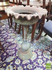 Sale 8428 - Lot 1006 - Pair of Antique Style Cast Iron Planters on Pedestals