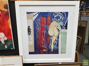 Sale 8449 - Lot 2022 - Brett Whiteley Print - Bath 50.5 x 45.5cm
