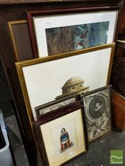 Sale 8478 - Lot 2056 - Group of (8) Assorted Engravings and Prints, each framed, various sizes