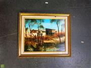 Sale 8627 - Lot 2011 - Artist Unknown - Rural Property oil on board, 29.5 x 36.5cm, unsigned