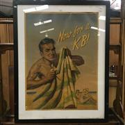 Sale 8643 - Lot 1005 - Vintage KB Poster, framed (some water damage)