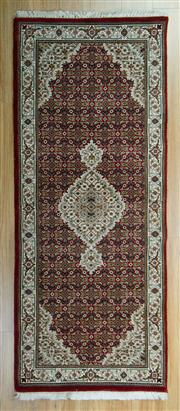 Sale 8657C - Lot 87 - Indo Persian Tabriz 200cm x 80cm