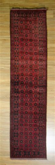 Sale 8672C - Lot 65 - Afghan Qunduzi 338cm x 79cm