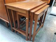 Sale 8705 - Lot 1066 - G Plan Teak Nest of Tables with Drawer