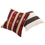 Sale 8761C - Lot 23 - A Pair of Vintage Turkish Kilim Cushions, Wool, 50x50cm, RRP $350