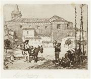 Sale 8794A - Lot 5076 - Lionel Lindsay (1874 - 1961) - Convent of Los Capucinos, Seville 10.5 x 13.5cm