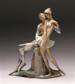 Sale 9122 - Lot 24 - Lladro Figure of Ballerinas (H:36cm)
