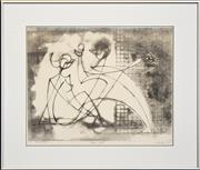 Sale 8297 - Lot 588 - Frank Hinder (1906 - 1992) - Adam & Evil, 1982 35 x 45cm