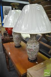 Sale 8337 - Lot 1093 - Pair of Viennese Monarch Table Lamps (4353)