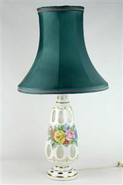 Sale 8463 - Lot 82 - Edwardian Glass Lamp