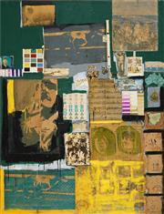 Sale 8504 - Lot 595 - Gerard Rouen - Painting with Plastic Australia, 1984 - 1985 121.5 x 167cm