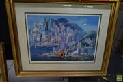 Sale 8592 - Lot 2060 - Charles Billich Hong Kong...a Vision offset lithograph ed. AP, 98.5 x 121cm (frame), signed lower right