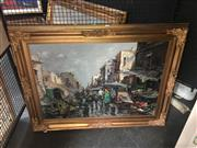 Sale 8707 - Lot 2041 - Ciro Canzanella (1948 - ), Market Sellers, oil on canvas, 93 x 123cm (frame size), signed lower right