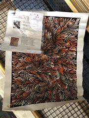 Sale 8789 - Lot 2065 - Selina Numina - Kurrajong Medicine Leaves, acrylic on canvas (unframed)