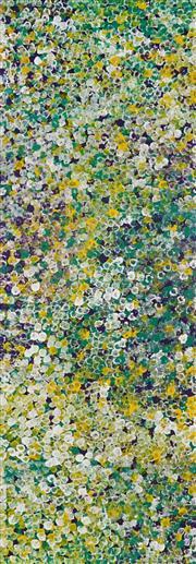 Sale 8992 - Lot 531 - Belinda Golder Kngwarreye (1986 - ) - Bush Plum Dreaming 198 x 69 cm (stretched and ready to hang)