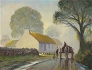Sale 9001 - Lot 502 - Michael McCarthy (1940 - ) - Soft Morning Tom?  34 x 44 cm (frame: 50 x 60 x 5 cm)